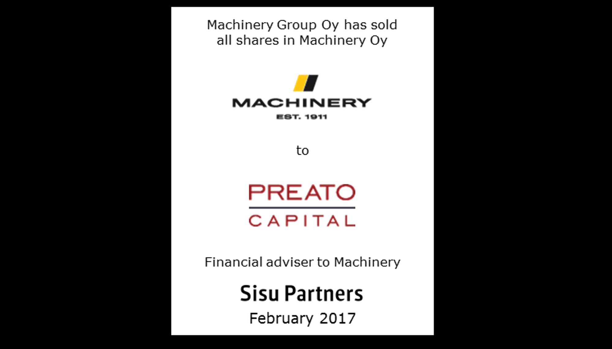 Machinery Preato Capital